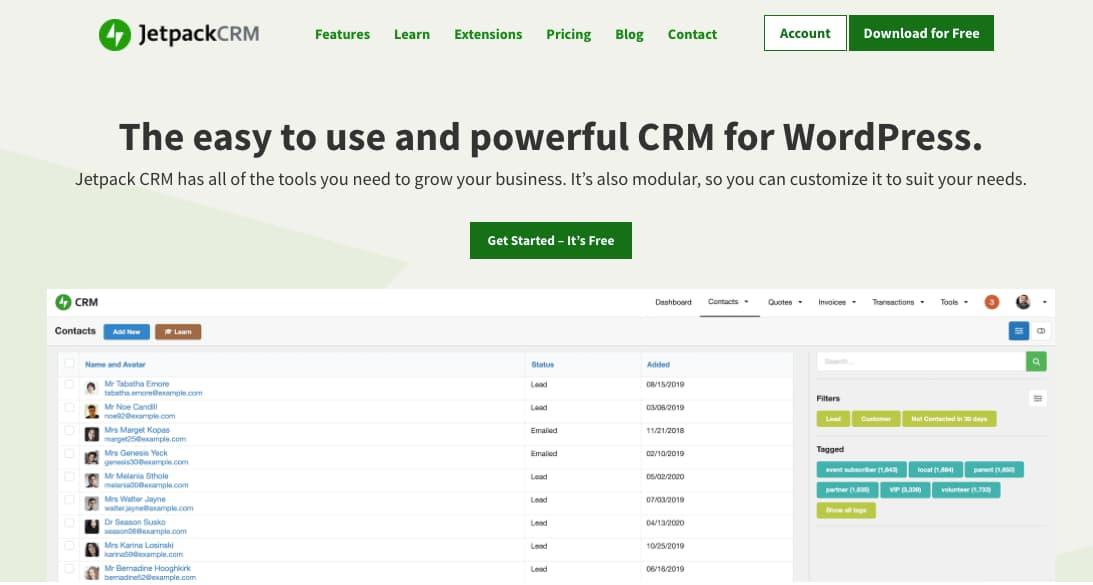 Plugins CRM para WordPress: Jetpack
