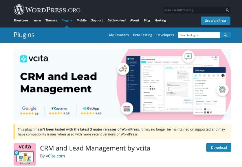 Plugins CRM para WordPress: vcita