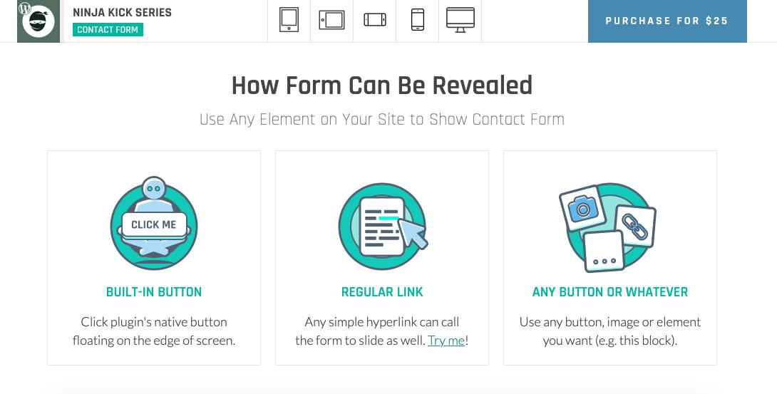 Mejores plugins para formulario de contacto de WordPress: Ninja Kit