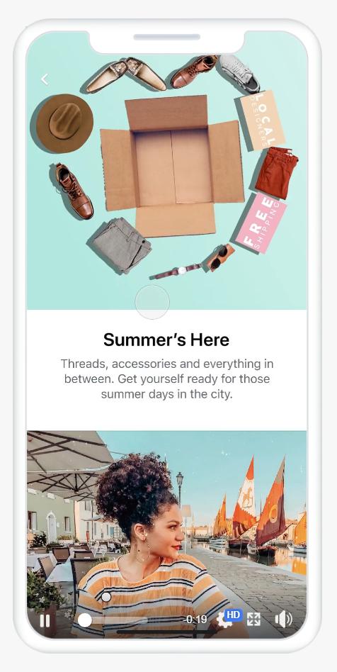 Tipos de anuncios en Facebook: colección