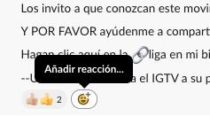 Añadir reacciones en Slack