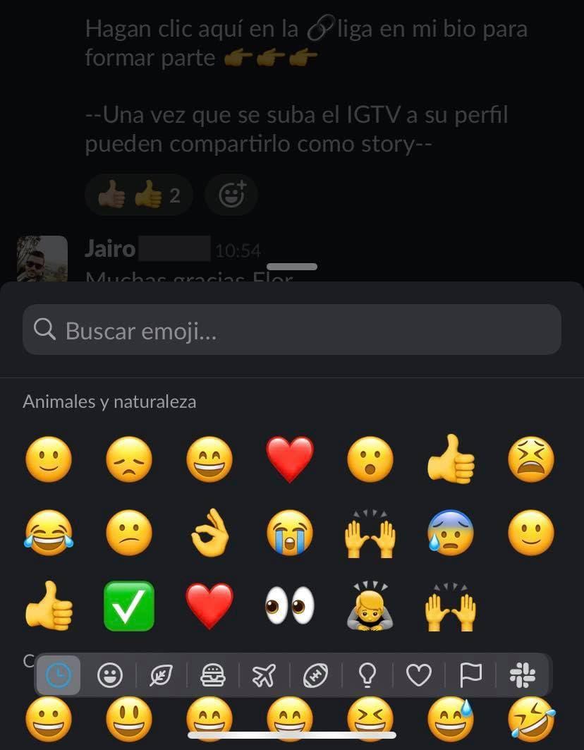 Cómo usar Slack en app