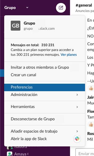 Cómo usar Slack: grupos