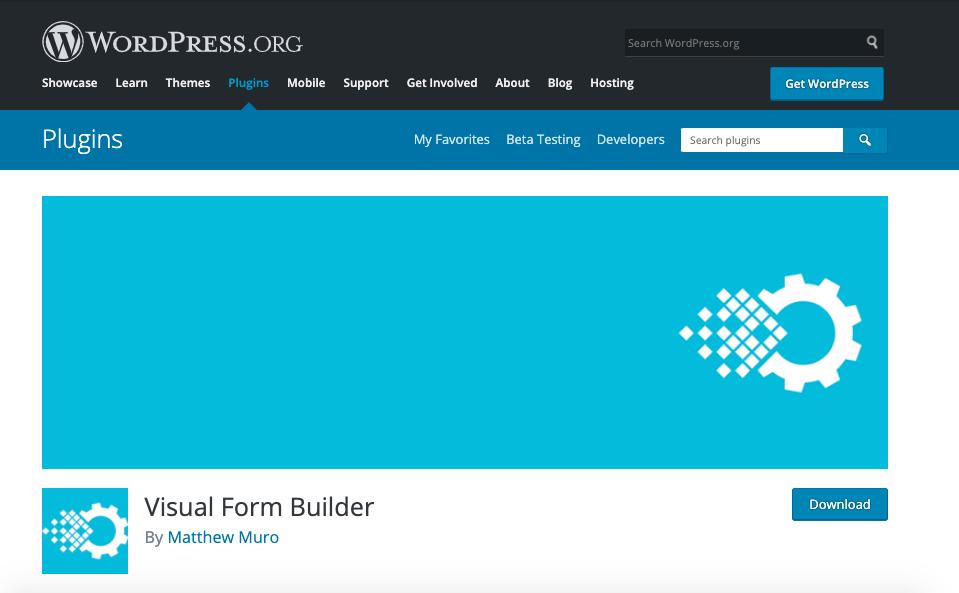 Mejores plugins para formulario de contacto de WordPress: Visual form builder