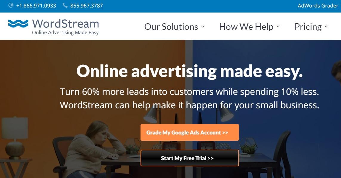 Creador de squeeze page: WordStream