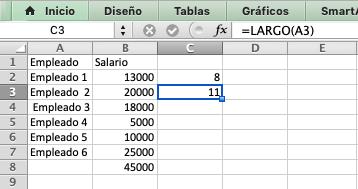 Fórmulas de Excel: LARGO