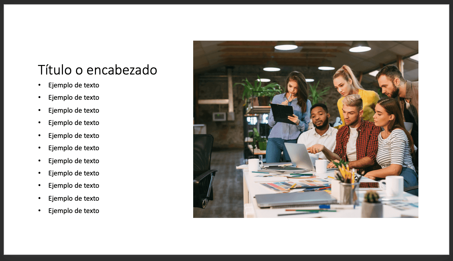 Cómo usar PowerPoint: ejemplo de diapositiva