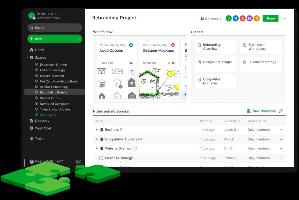 App para administrar negocios: Evernote