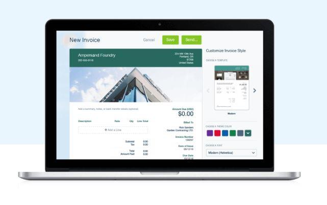 App para administrar negocios: Freshbooks