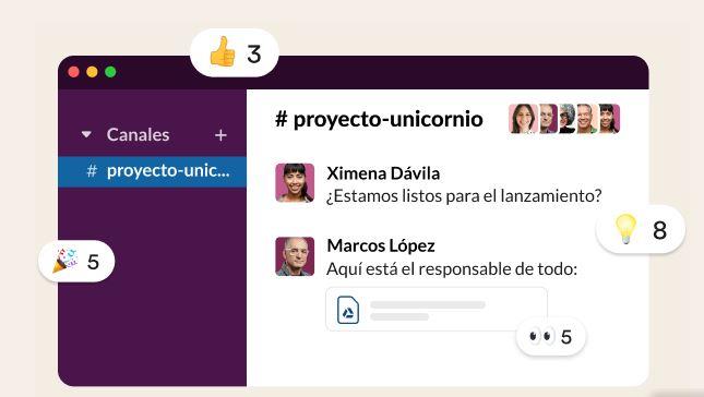 App para administrar negocios: Slack