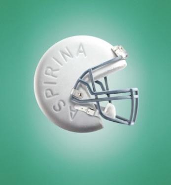 Ejemplo de anuncio publicitario creativo de Aspirina