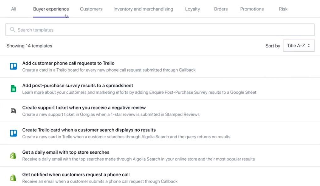Software de automatización de ecommerce: Shopify Flow