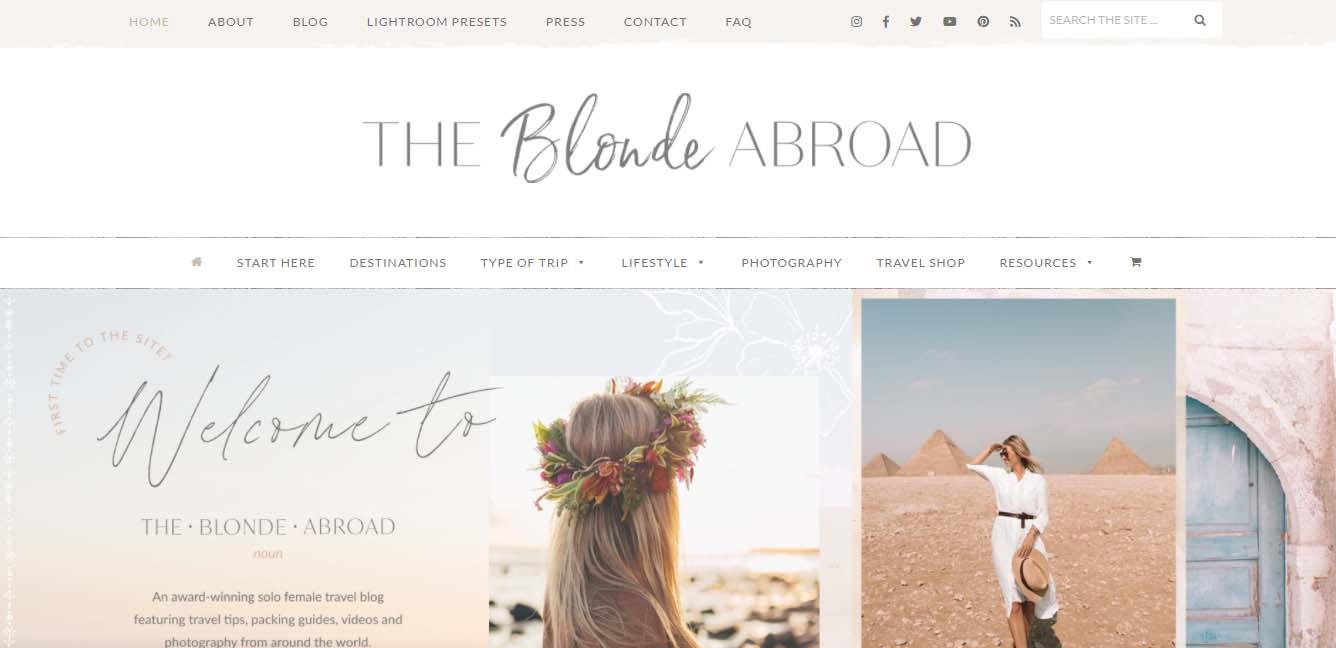 Ejemplo de blog de viaje