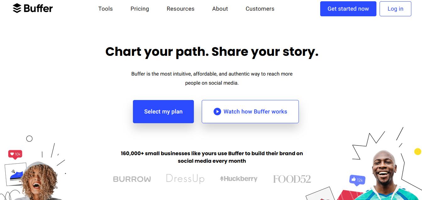 Herramientas para programar publicaciones en redes sociales: Buffer