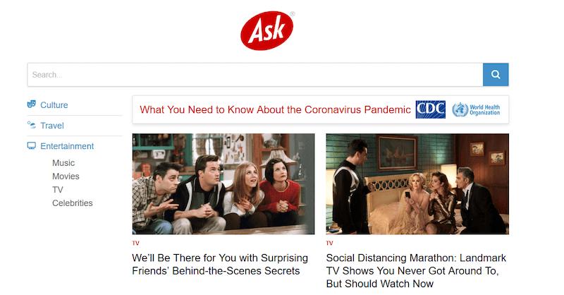 Buscadores de internet, Ask