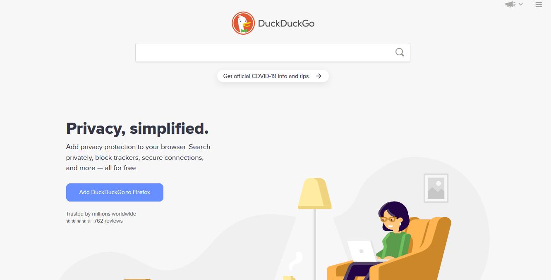 Buscadores de internet, DuckDuckGo