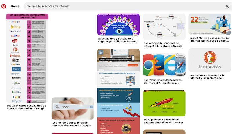 Buscadores de internet más utilizados, Pinterest