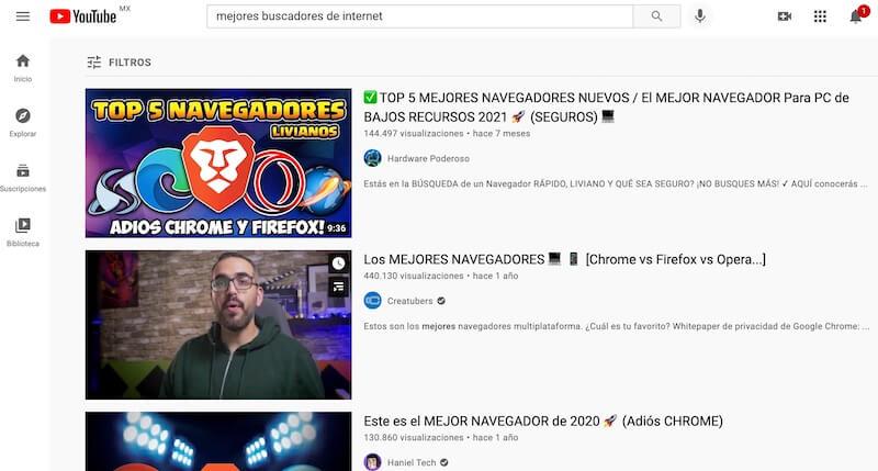 Buscadores de internet más usados, YouTube
