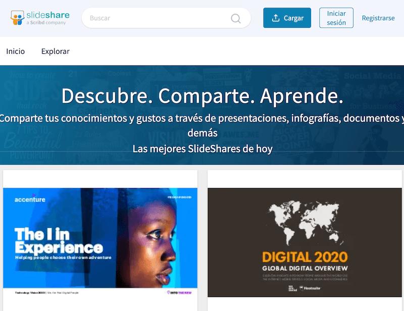 Buscadores de internet más utilizados, Slideshare
