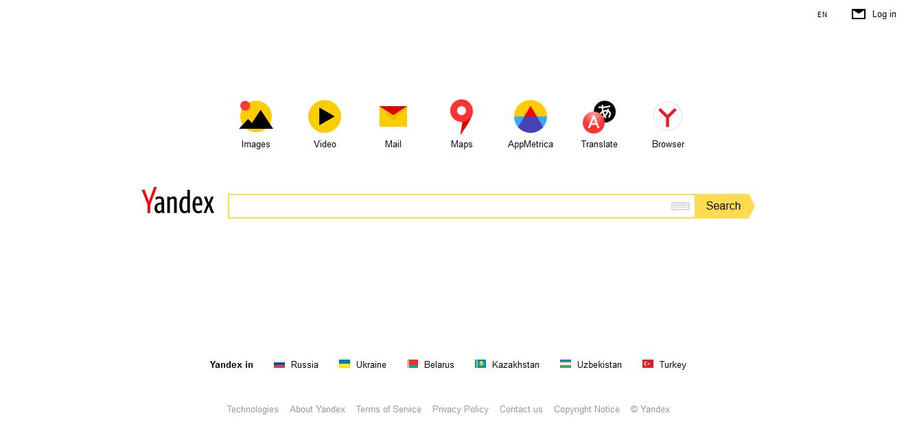 Buscadores de internet, Yandex