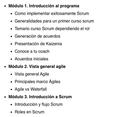 Curso online de scrum master de Agile Scrum
