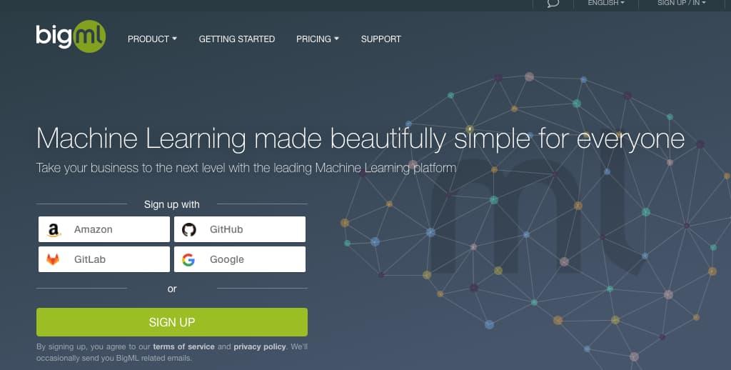 Ejemplo de software para la ciencia de datos: BigML