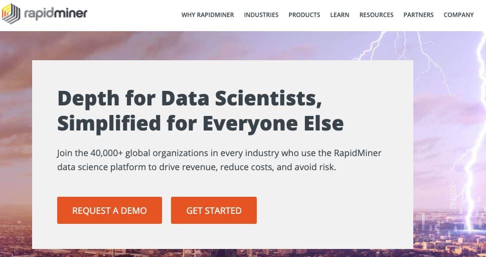 Ejemplo de software para la ciencia de datos: RapidMiner