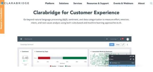 Mejores software de customer intelligence: Clarabridge