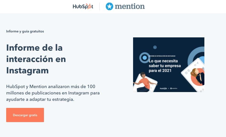 Ejemplo de co-marketing: HubSpot y Mention