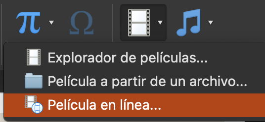 Cómo agregar videos a PowerPoint: selecciona «Película en línea»