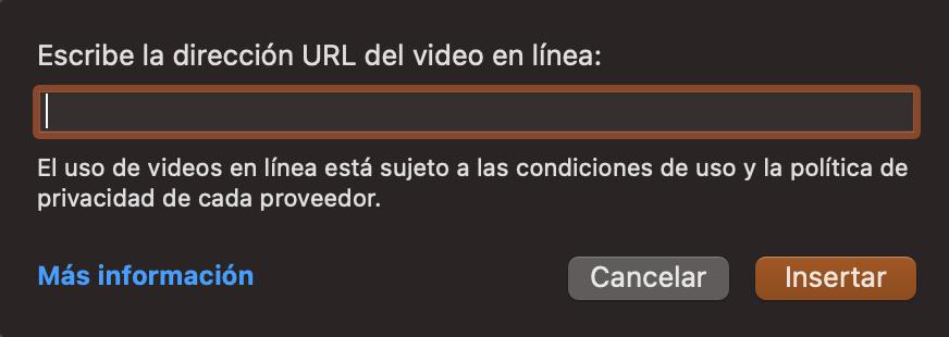Cómo agregar videos a PowerPoint: escribe la URL del video