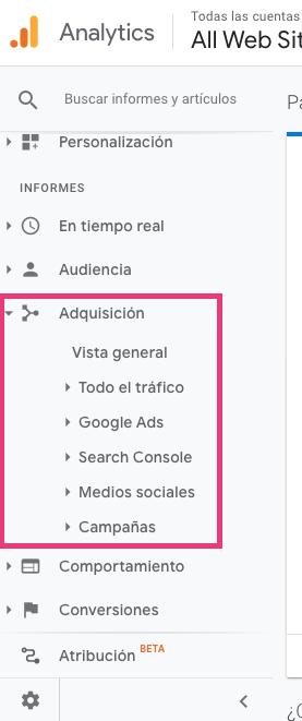 Dónde dar seguimiento a las campañas desde Google Analytics con código UTM
