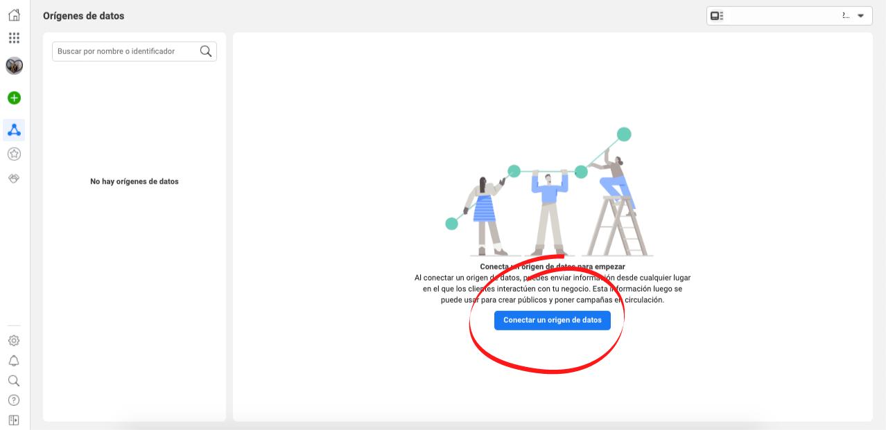 Cómo crear un píxel de Facebook para tu sitio web: conecta con el origen de datos