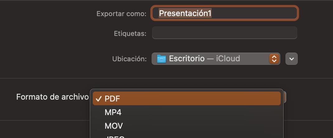 Cómo guardar una presentación de PowerPoint en PDF: elige el formato y haz clic en «Exportar»