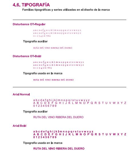 Cómo hacer manual de identidad corporativa: Indica las fuentes tipográficas