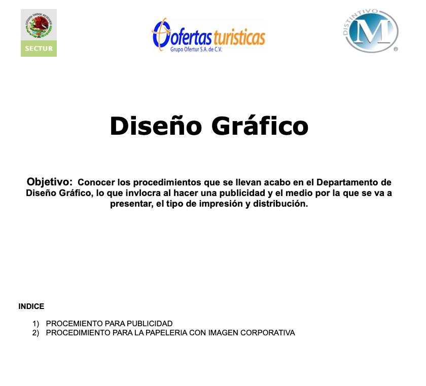 Ejemplo de manual de procedimientos de empresa turística