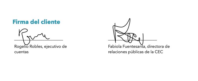 Ejemplo de cotización hecho con la plantilla de HubSpot para una agencia de creación de contenido