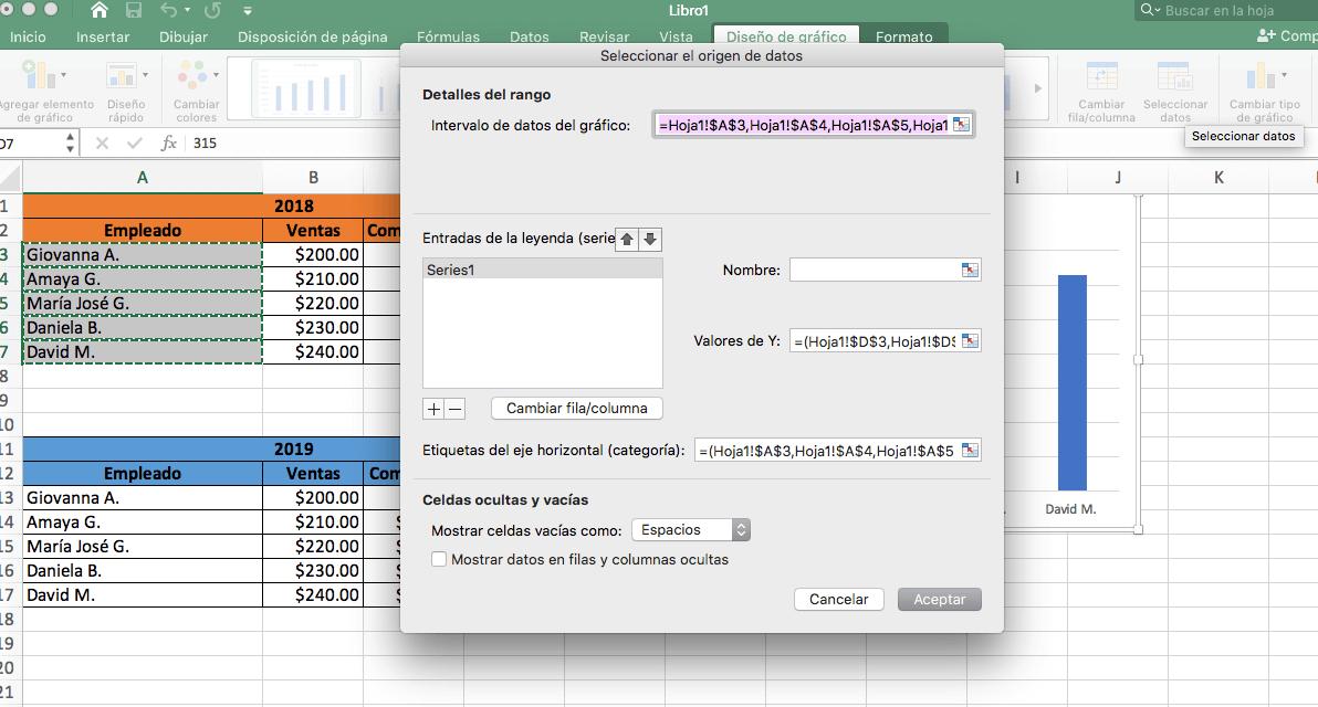 Cómo hacer una gráfica comparativa en Excel: hazla comparativa