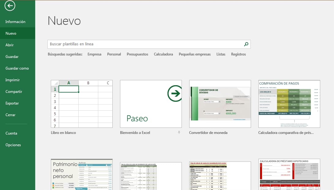 Cómo hacer un inventario en Excel: nuevo documento