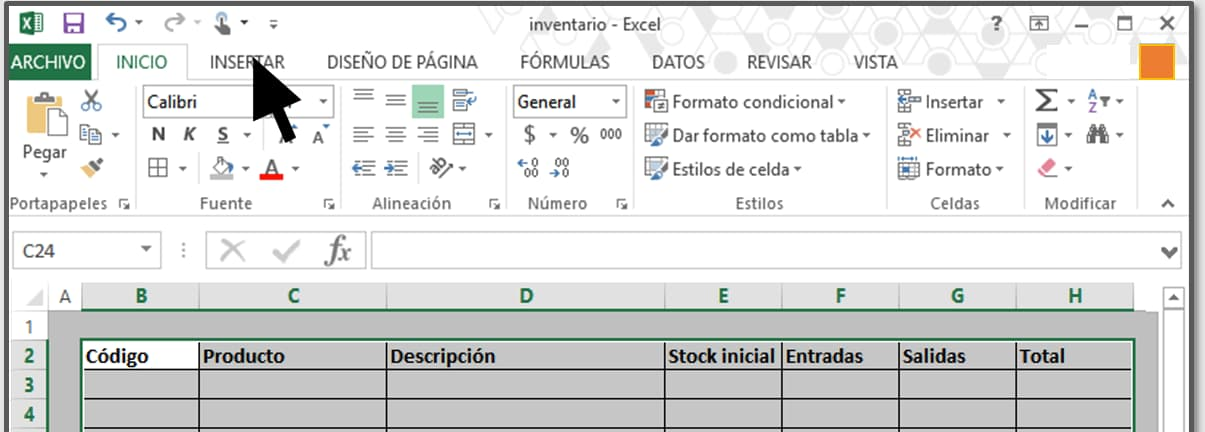 Cómo hacer un inventario en Excel paso a paso