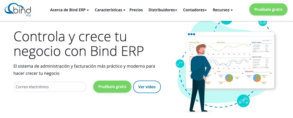 Software para gestión de inventario: Bind ERP