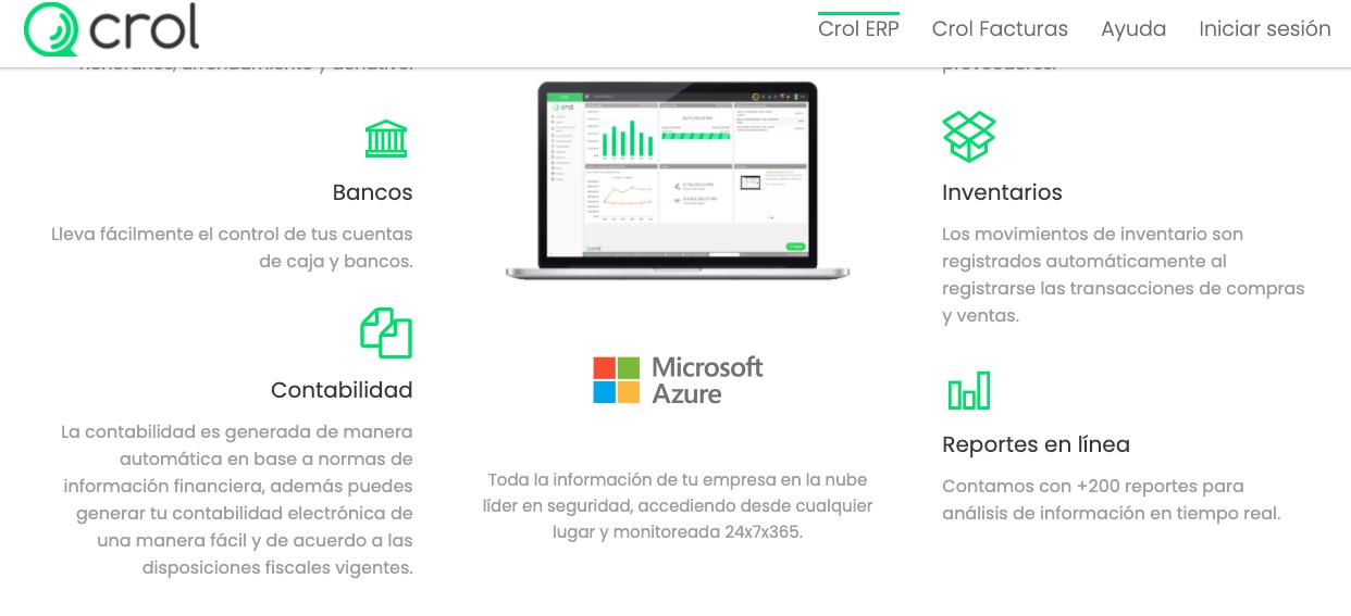 Software para gestión de inventario: Crol