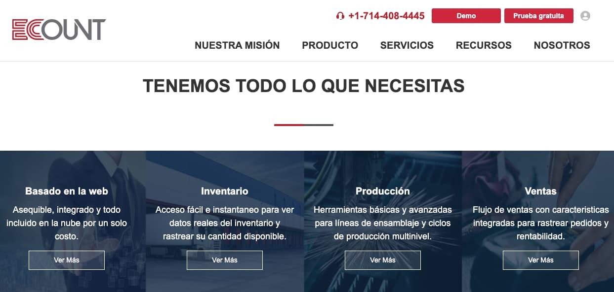 Software para gestión de inventario: Ecount ERP