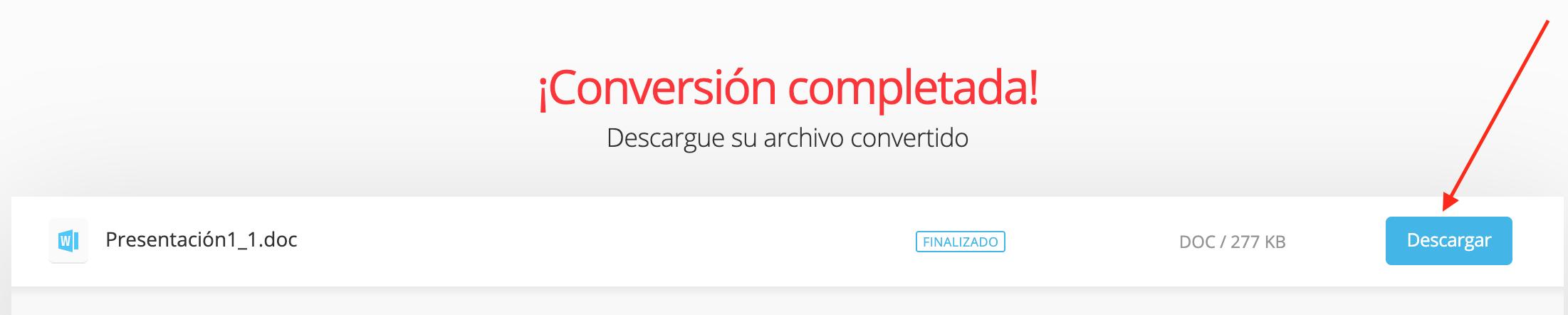 Cómo pasar una presentación a Word: descarga tu archivo convertido