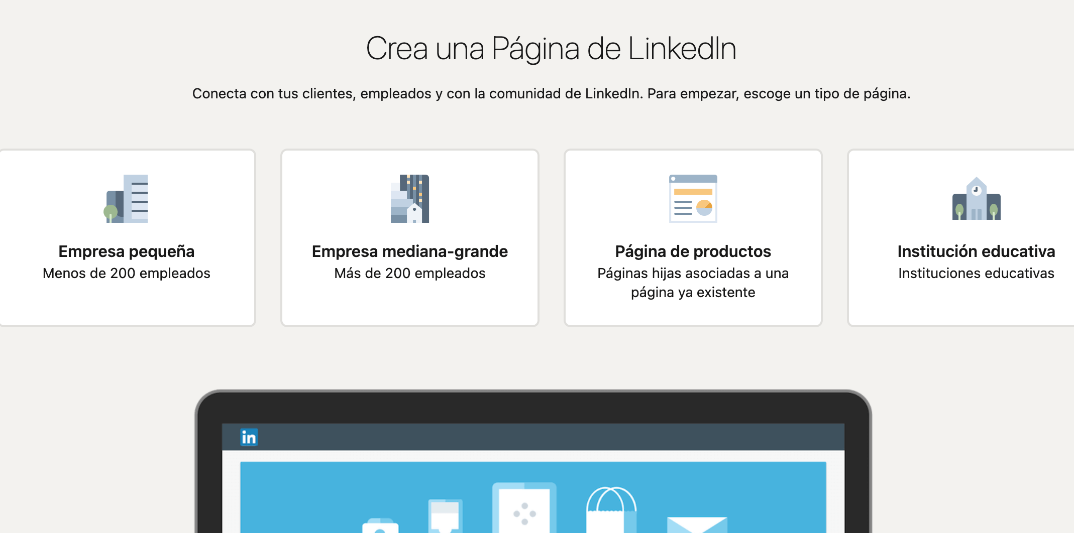 Cómo crear pagina de empresa en LinkedIn: elegir la opción más adecuada para tu empresa