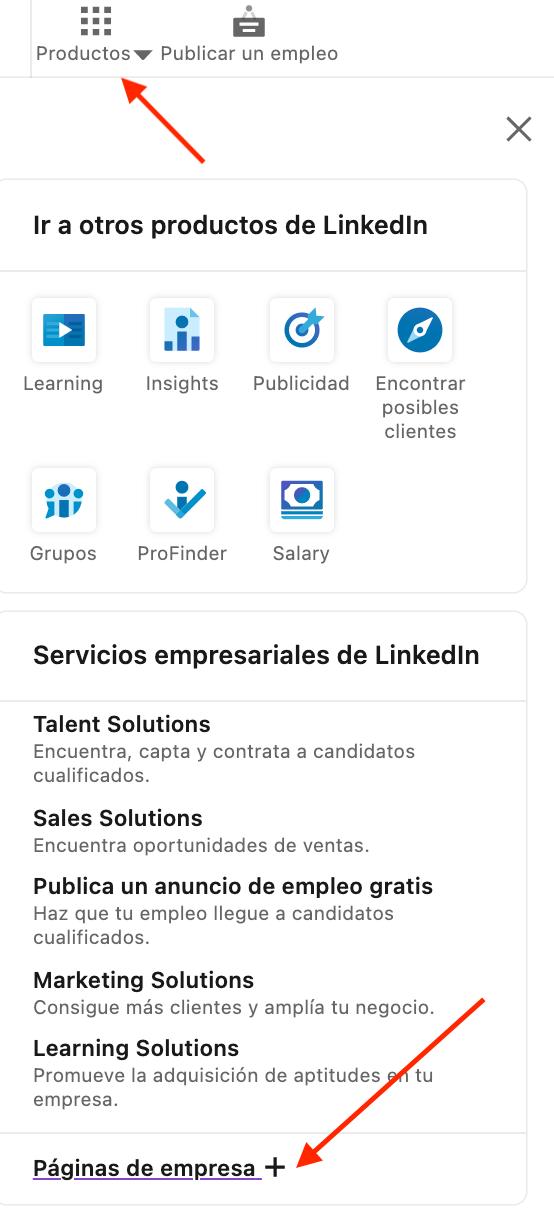 Cómo crear pagina de empresa en LinkedIn: crear perfil de empresa