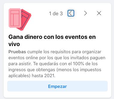 Cómo monetizar un evento en vivo de Facebook Live