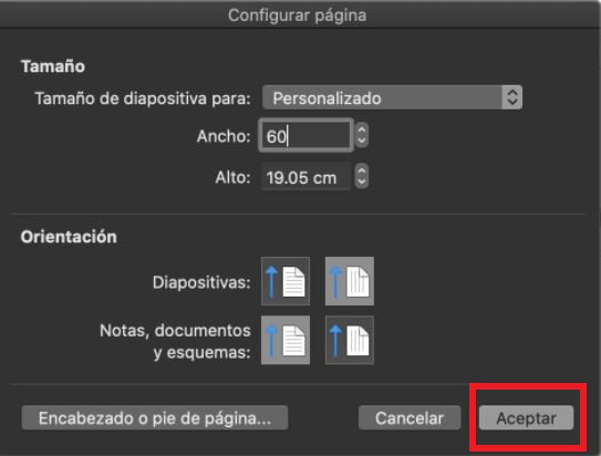 Cómo usar PowerPoint: configuración de tamaño