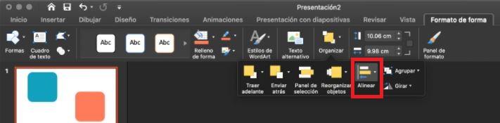 Cómo usar PowerPoint: alinear formato de forma