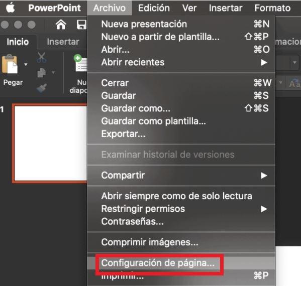 Cómo usar PowerPoint: configuración de página